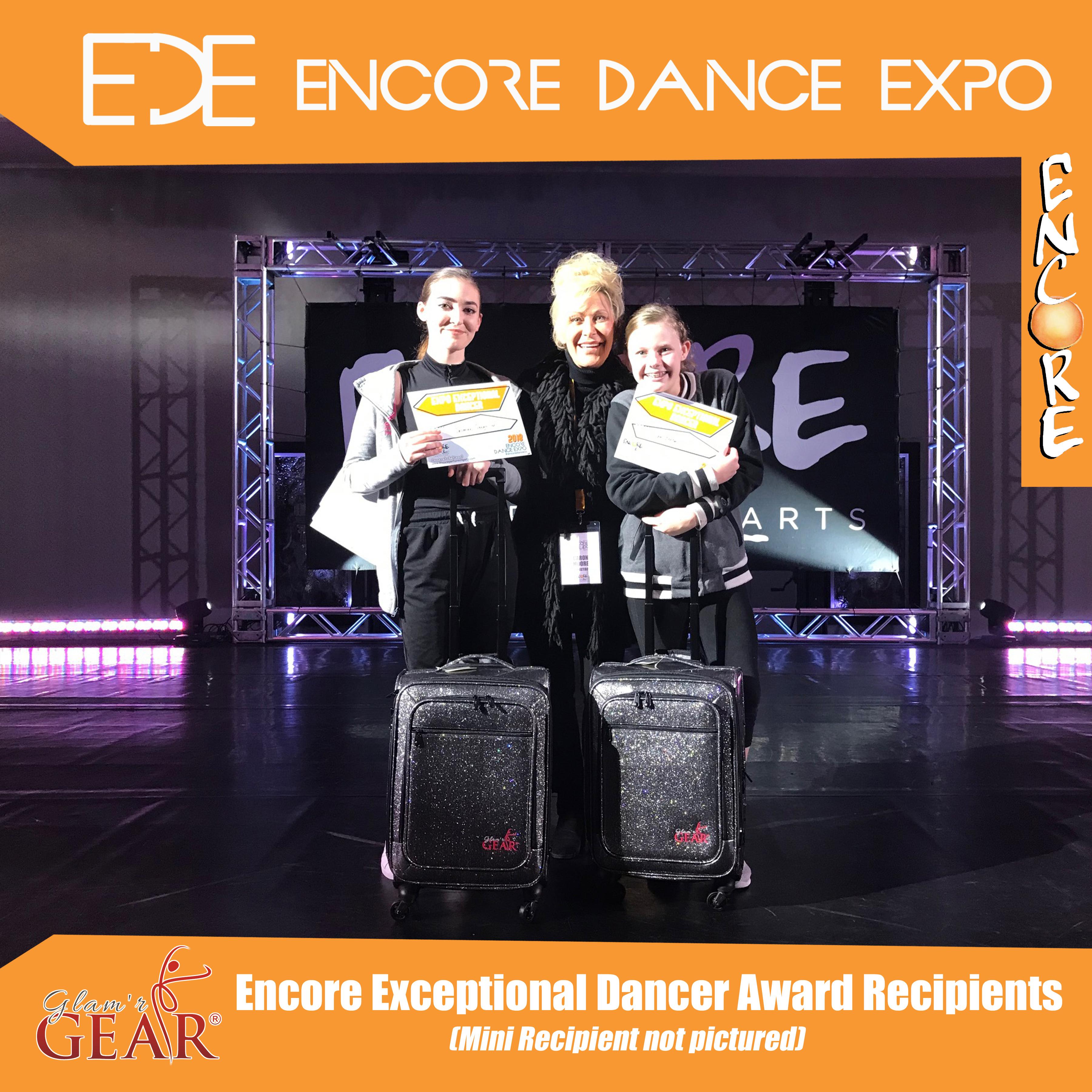 EDE - Encore Exceptional Dancer award recipients